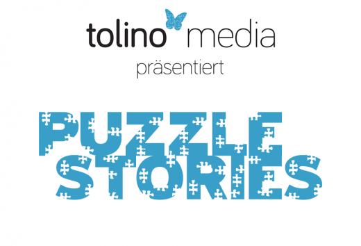 """Text auf weißem Hintergrund: tolino media präsentiert """"Puzzle Stories"""""""