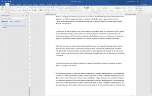 Der Navigationsbereich in Word