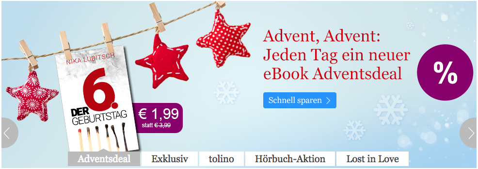 Adventsdeal bei eBook.de
