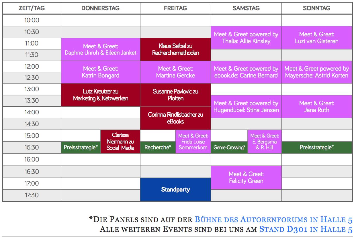 Veranstaltungsplan für Leipziger Buchmesse 2018