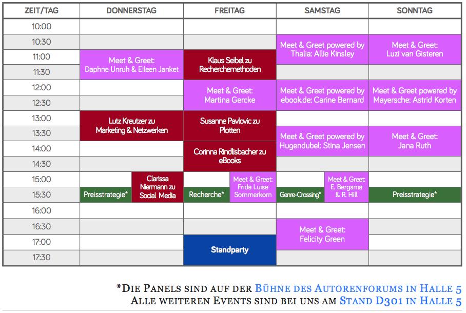 Eventplan Leipziger Buchmesse 2018