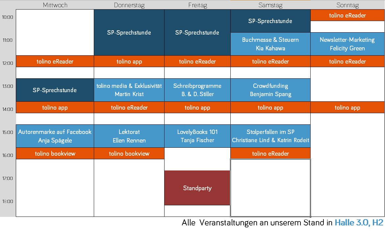 Eventplan Frankfurter Buchmesse 2019
