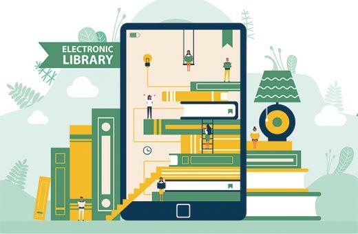 virtuelle Bibliothek, Symbolbild für die Onleihe
