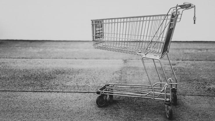 Einkaufswagen als Symbol für Nebenmärkte