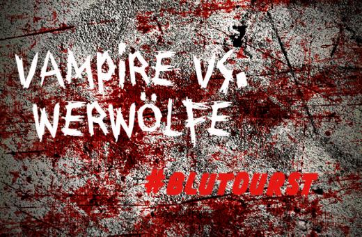 Vampire vs. Werwölfe, auf blutiger Wand, #blutdurst