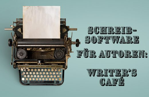 "Schreibmaschine und der Text ""Write it your way: Writer's Café"""