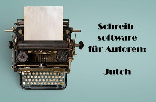Beitragsbild Schreibmaschine auf Türkis, Jutoh