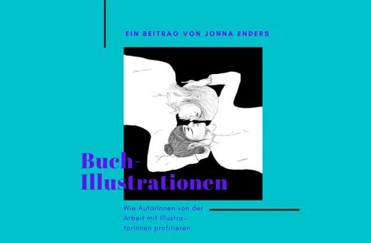 Blog Buchillustrationen mit einem Bild von Jonna Enders, das ein sich küssendes Paar zeigt