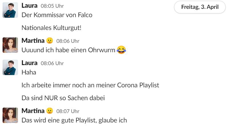 Der Kommissar von Falco wird für die Corona Playlist auserkoren