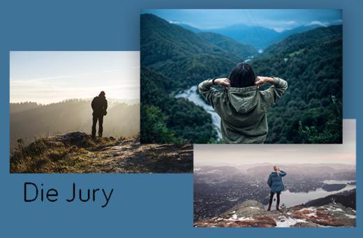 """Symbolbild """"Wir suchen EUCH"""" - die Jury"""