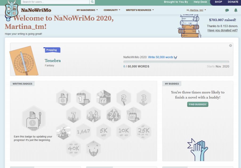 NaNoWriMo Badges und mehr