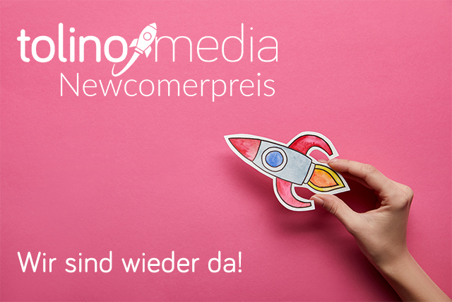 tolino media Newcomerpreis 2021 Logo mit Rakete